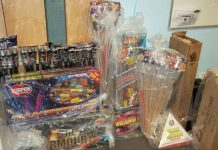 A haul of dangerous fireworks seized by police.