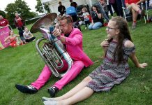 Oompah Brass are the UK's original rock and roll oompah band and are one of the many street bands performing at this year's festival.