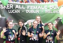Aislinn Paley, Amy Aspinall, Macey Gallone, Olivia Turnbull and Carmel Carey proved a knockout at the Esker BoxCup in Dublin, each one taking home a Gold Medal.