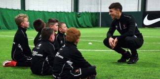 Brad Wilson, Coaches' Academy member at Spennymoor Town Youth FC with some of his charges.