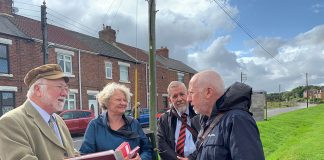 Andy McDonald MP on a visit to Coundon.