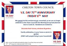 Chilton Town Council VE Day commemorations.