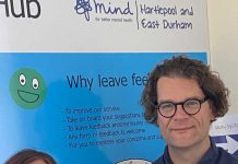 Claire Yeoman, Training Hub Co-ordinator, Hartlepool and East Durham MIND and Iain Caldwell, Chief Executive Officer, Hartlepool and East Durham MIND.