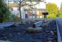 Original sleeper stones from the Stockton & Darlington Railway at Shildon