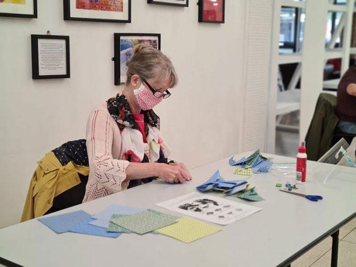 Daisy Arts runs Covid-safe adult craft sessions on Friday mornings. Photo Credit: Daisy Arts