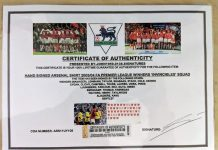 A fake certificate of authenticity.