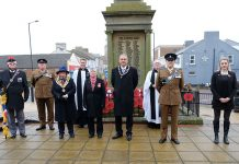 Spennymoor's official Remembrance service.