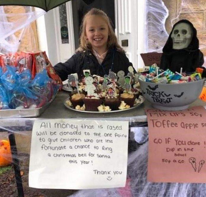 Kelsie King fundraising stall