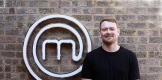 Mike Bartley alongside the Masterchef logo