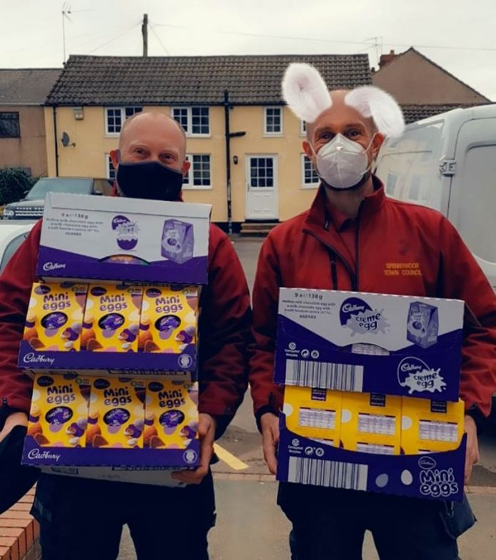 Spennymoor Town Council gift Easter eggs